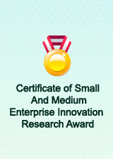 Chandox Certificate of Small And Medium Enterprise Innovation Research Award